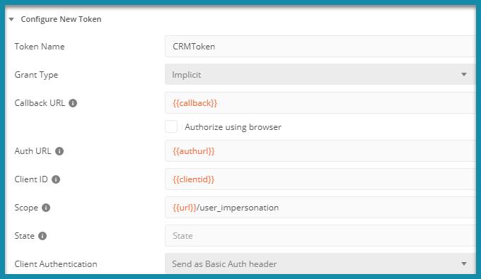 Calling MS Dynamics CRM API from Postman