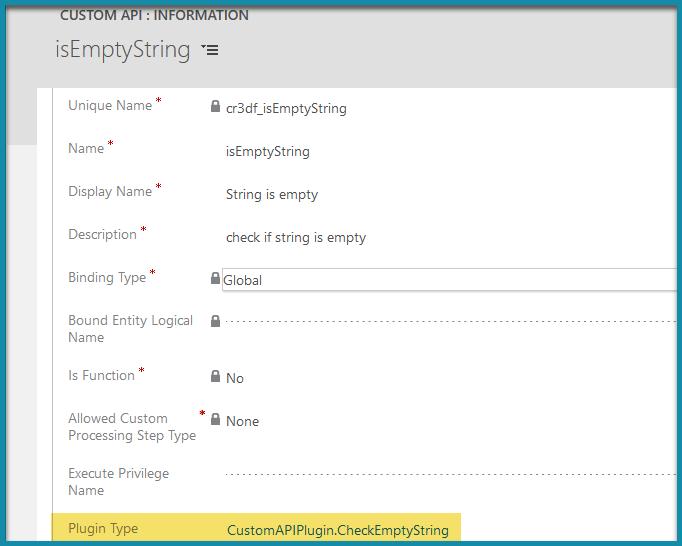 Creating Dataverse Custom API